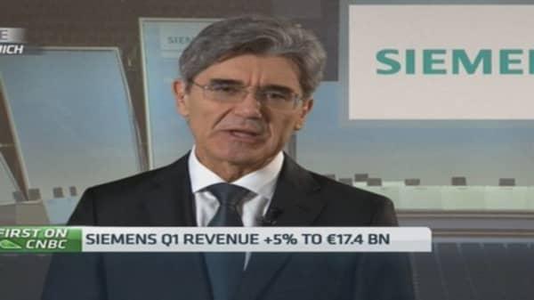 Siemens boss on management reshuffle