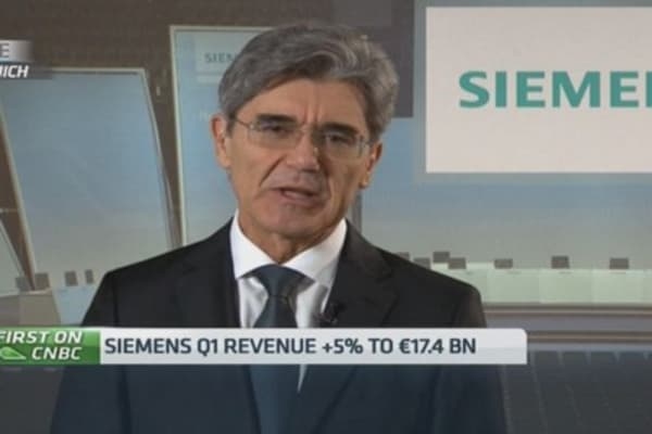 Siemens boss on management reshuffle