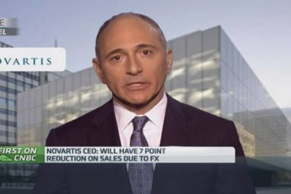 Novartis CEO on euro, Swiss franc effect