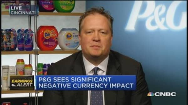 P&G misses on top and bottom line