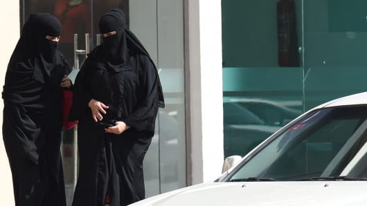 Saudi women leave mall in Riyadh before taking taxi as elsewhere a grassroots campaign planned to call for an end to the driving ban for women in Saudi Arabia.