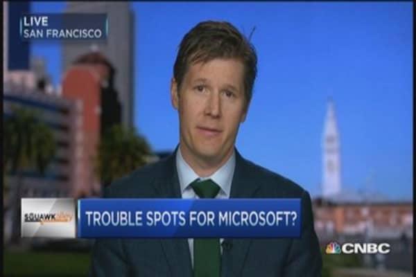 Microsoft's earnings crash