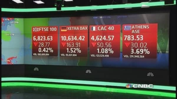 European stocks end lower after US earning misses