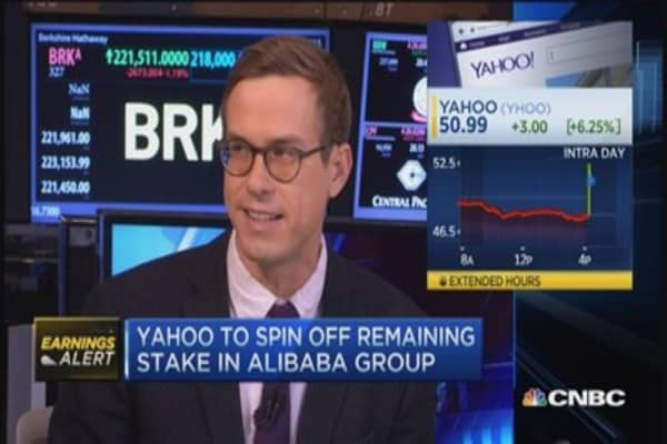 Yahoo to spin-off stake in Alibaba
