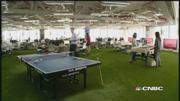 Office foosball & golf: Would you work here?