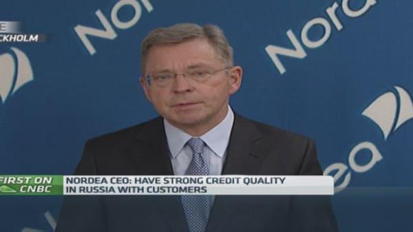 'Gradually' reducing Russia exposure: Nordea CEO