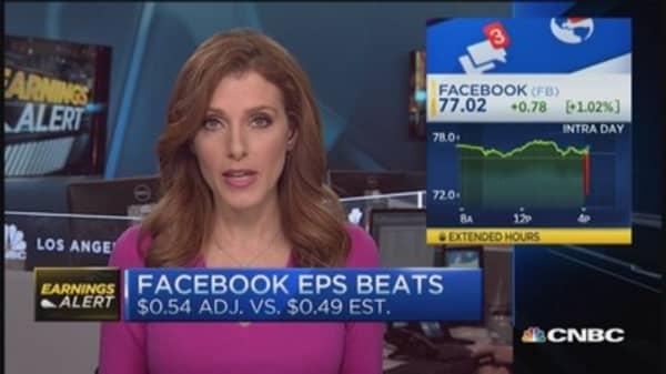 Facebook beats on top & bottom