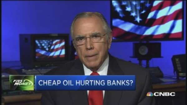 Cheap oil hurting banks?