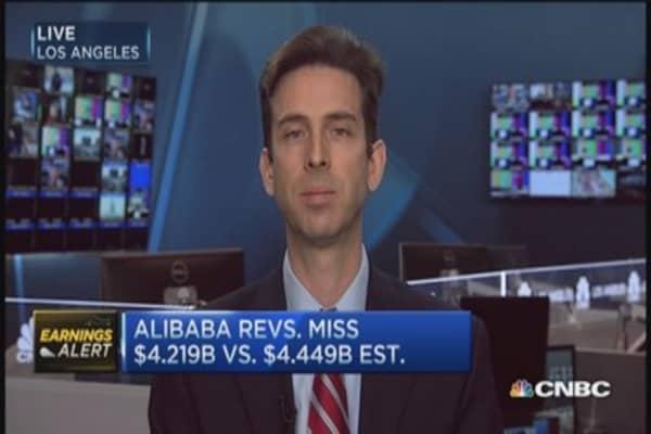 Alibaba reports mixed results
