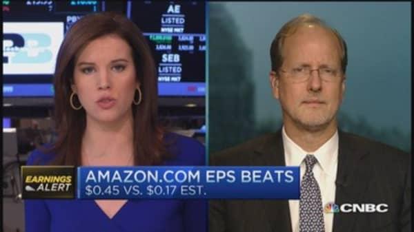 Amazon beats on EPS, misses on revenue
