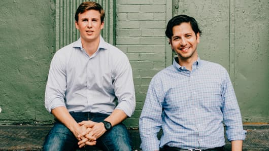Vettery co-founders Brett Adcock, left, and Adam Goldstein.