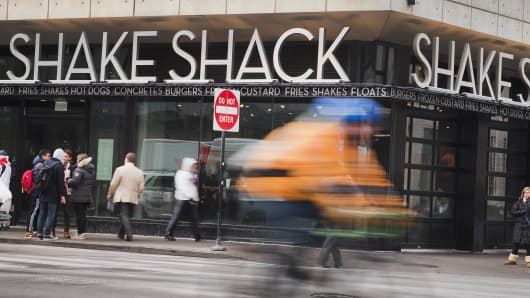 A Shake Shack restaurant in Chicago.
