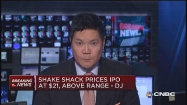 Shake Shack prices IPO at $21: DJ