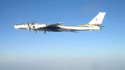 Russian Tu-95 Bear long rang bomber aircraft