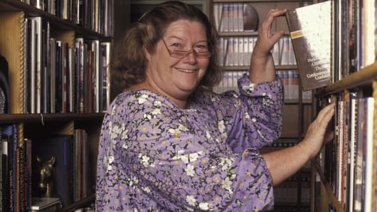 Australian writer Colleen McCullough at home in Norfolk Island, Australia in 1990