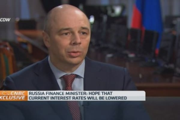 I hope interest rates are cut: Russian Fin Min