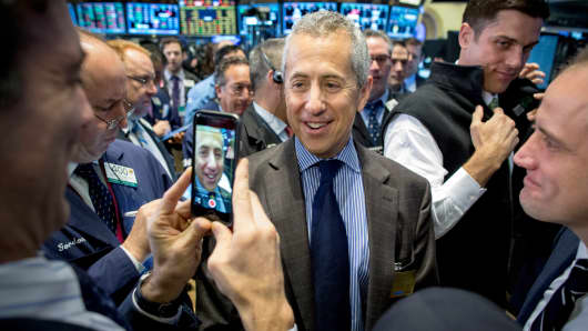 Shake Shack founder Danny Meyer is photographed during his company's IPO on the floor of the New York Stock Exchange January 30, 2015.