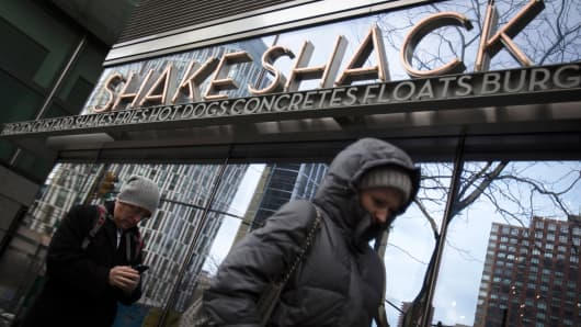 A Shake Shack restaurant in New York.