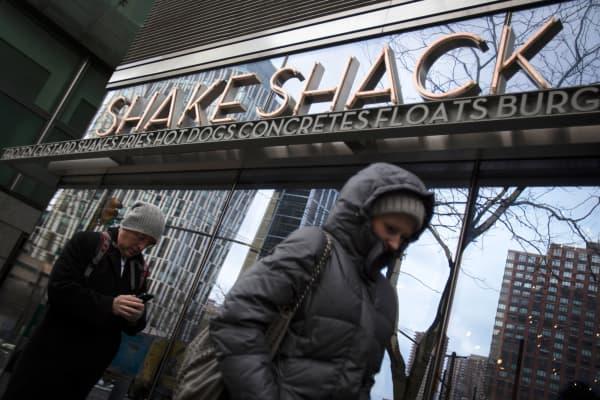A Shake Shack restaurant in New York.