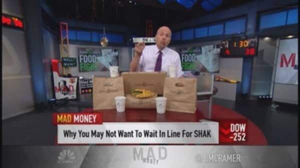 Shake Shack too rich for Cramer?