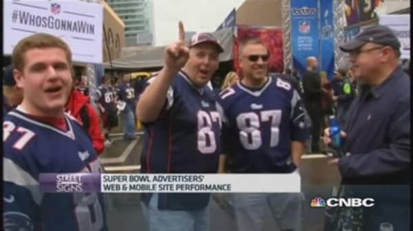 Best-performing websites during Super Bowl