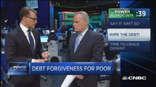 Debt forgiveness for the poor
