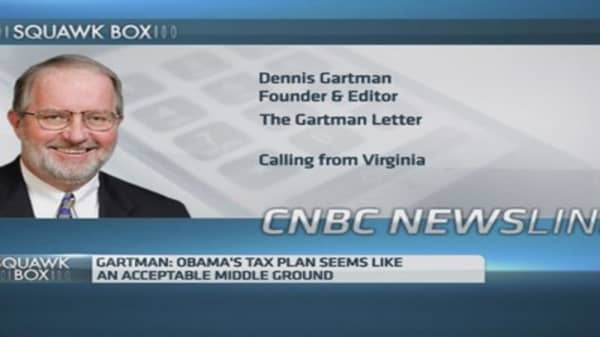 'Not bad': Gartman on Obama tax plans