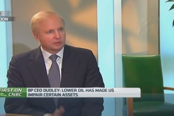 BP CEO: Oil prices' effect on assets