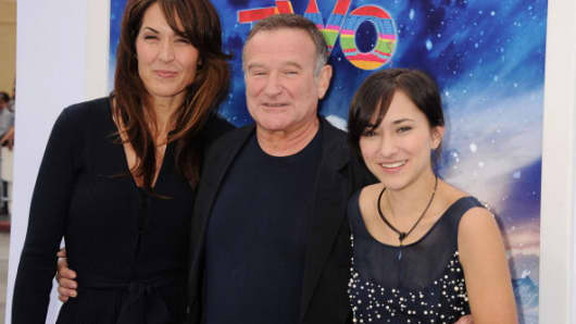 Susan Williams, Robin Williams and Zelda Williams