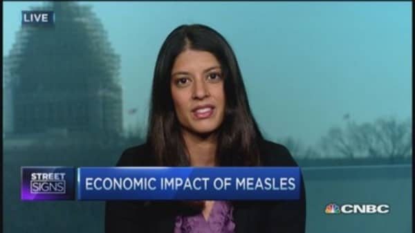 Economics of measles outbreak