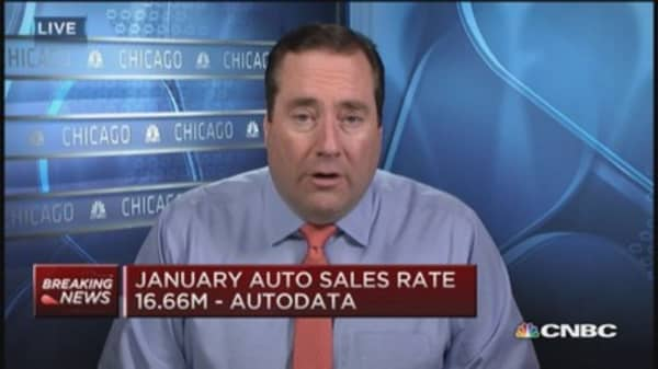 January auto sales rate 16.66 million: Autodata