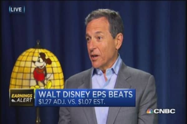 Disney CEO: Great, great quarter