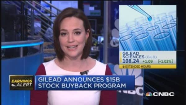 Gilead announces first dividend