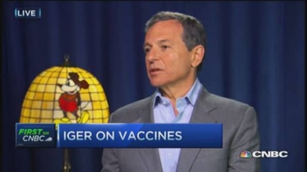Bob Iger: Measles outbreak had no impact