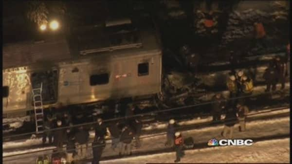 NYC train crashes into car, 7 dead