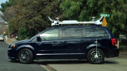 A mysterious camera-equipped van spotted in the Bay Area.