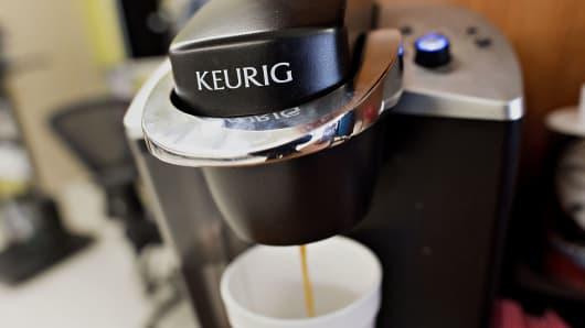 A Keurig Green Mountain machine