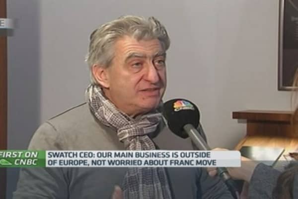 Swatch CEO: SNB's move is a tourism disaster