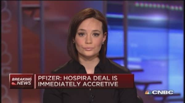 Pfizer buying Hospira for $90 a share