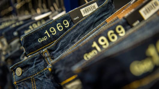 A file photo of Gap 1969 jeans