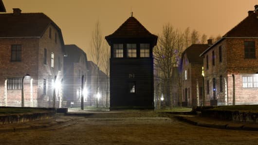 A view of the former Nazi concentration and extermination camp Auschwitz in Oswiecim, Poland, January 19, 2015.