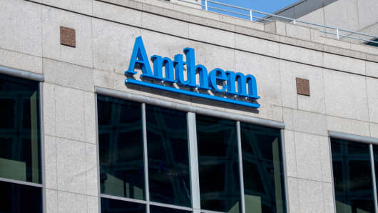 Anthem Health Insurance headquarters on Feb.  5, 2015, in Indianapolis.