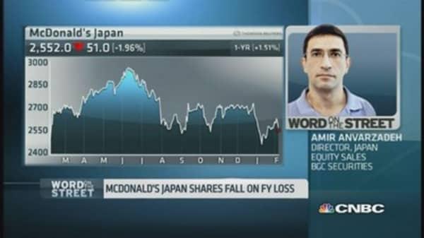 McDonald's Japan same-store sales crash 38%