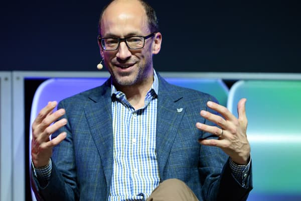 Twitter CEO Dick Costolo at the 2014 International CES on Jan. 8, 2014, in Las Vegas.
