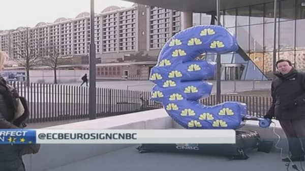 Inflation's back! CNBC revives the ECB euro sign