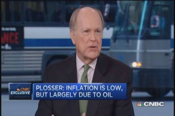 Fed's Plosser,  'cusp' of raising rates