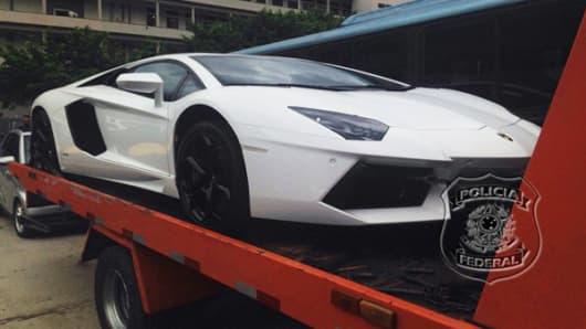 Eike Batista's seized Lamborghini