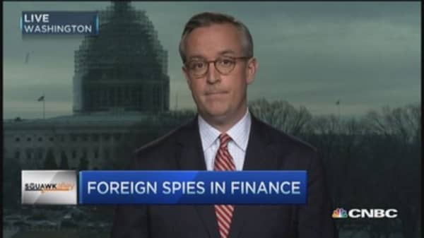 Carlin: Spies try to gain financial intelligence