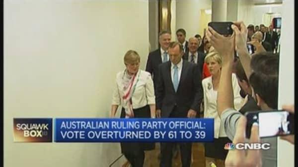 Australia's Abbott survives leadership vote