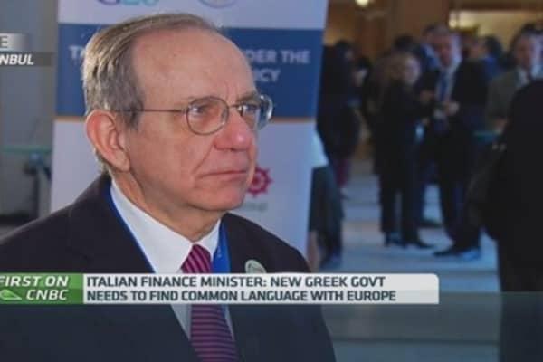 Italian debt is 'fully sustainable': Fin Min